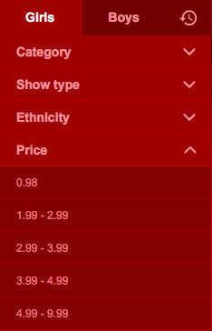 Filtre de prix